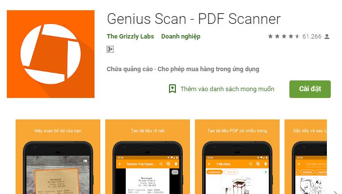 Genius - ứng dụng scan PDF