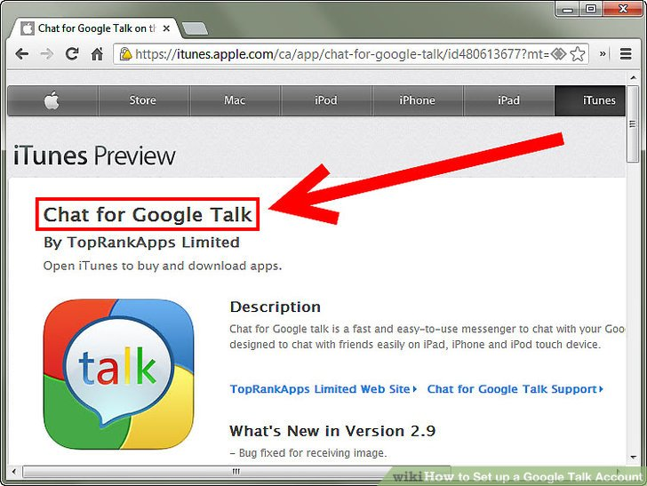 ứng dụng google talk